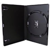 Vision Media 25 x Single Black Amaray DVD/CD/BLU RAY Case