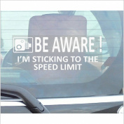 1 x Be Aware, I'm Sticking to the Speed Limit Sticker-Car,Van,Truck,Caravan,Motorhome,Lorry,Taxi,Minicab,Automobile Self Adhesive Vinyl Window Sign