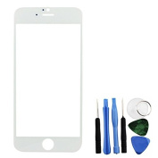 Bislinks® Front Glass Lens Screen White + Tools Replacement Part Repair for iPhone 6
