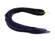 Elysee Star Dreads Black Dark Purple Transitional Dreadlocks Double Ended Synthetic Dread