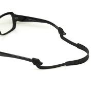 Tinksky Black Anti-slip Elastic Silicone Headband Strap for Eyeglasses Sunglasses Glasses