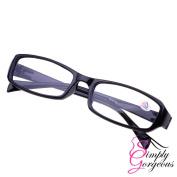 Black . Comfortable Reading Glasses - Strength 1.5