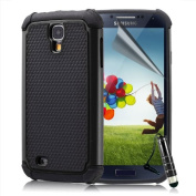 ihomegadget Shock Proof case cover for Samsung Galaxy S4 + FREE screen protector, cleaning cloth and stylus pen - Black