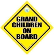 Grandchildren On Board, Grandchildren On Board Car Sign, Baby On Board Sign, Decal, Baby on Board, Grand Children On Board, Grand Parents, Grand Children On Board, Baby Car Sign, Bumper Sticker, Decal, Baby Car Signs
