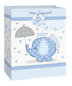 Baby Shower Umbrellaphants Gift Bag - Blue