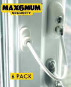 MAX6MUM SECURITY Lockable Baby and Child Window and Door Safe Restrictor in White