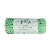 5L x 50 bags Biobag Compostable Kitchen Kerbside Caddy Liner - Food Waste Bin Liners - EN 13432 - Biobags 5 litre Bags with Composting Guide