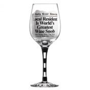 Really Great News Greatest Wine Snob Glass
