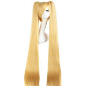 MapofBeauty 120cm Straight 2 Clip On Ponytails Cosplay Wig Costume Wig