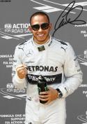 Lewis Hamilton Autographed Signed A4 21cm x 29.7cm Poster Photo