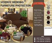 Grey Luxury Quilted 3 Seat SOFA / SETTEE Furniture Protector Cover THROW (Perfect for 3 seater sofa/settee) by Viceroy Bedding