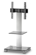 Sonorous PL 2515 Glass Inox Aluminium Stand for TV of Sizes Up to 130cm - Clear