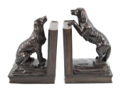Beautiful Cold Cast Bronze Retriever Dog Pair Bookends Heavy