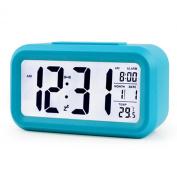 Konigswerk 13cm Smart, Simple and Silent LED Digital Alarm Clock w/ Date Display, Repeating Snooze and Sensor Light + Night Light