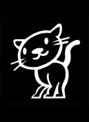 Official My Stick Figure Family Car Window Vinyl Sticker PC4 Happy Cat