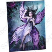Silk Lure - A Gothic Fairy In Spiders' Web with Spider - Fantastic Design by Artist Anne Stokes - Canvas Picture on Frame Wall Plaque / Wall Art