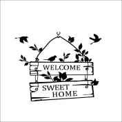 """""""Welcome Sweet Home"""" Quote Wall Sticker Romantic Wall Sticker DIY Wall Decoration House Decoration ART Vinyl MURAL Kids Baby Room Decor"""
