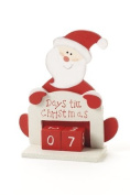 """Small Red and White Santa Shaped """"Days till Christmas"""" Counter Advent Calender"""