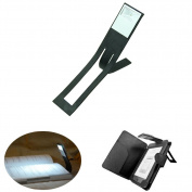 HeroNeo® Black Flexible Folding LED Clip On Reading Book Light Lamp For Reader Kindle
