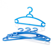 Home & Garden Direct Minky Adults Plastic Coat Hangers 4 Pack Assorted Colours