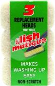 Dishmatique Dishmatique replacement heads (Sponges) White non scratch ideal for non-stick saucepansNon Scratch Replacement Heads - Consumable
