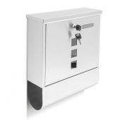Relaxdays Stainless Steel Wall-Mounted Mailbox with Newspaper Holder and Lockable Letterbox
