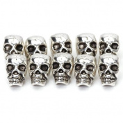 Prudance 20PCS Tibet Silver Skull Spacer Beads---Great DIY Accessories for Necklace, Bracelets and Earrings Making