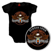 Hot Leathers Cry Hard Kids Onesie