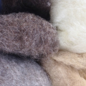 Magic Forest Shop Organic Felting Wool. Magic/Fairy Wool, For Felting and Crafts 100g. Natural Shades