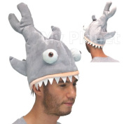 Shark Attack Bite Novelty Unisex Jaws Style Plush Fancy Dress Costume Gimmick Fish Hat