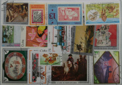 Packet of 100 Cuban stamps. Attractive thematics.