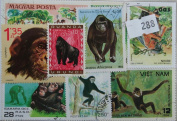 Monkeys. 20 stamps, all different.