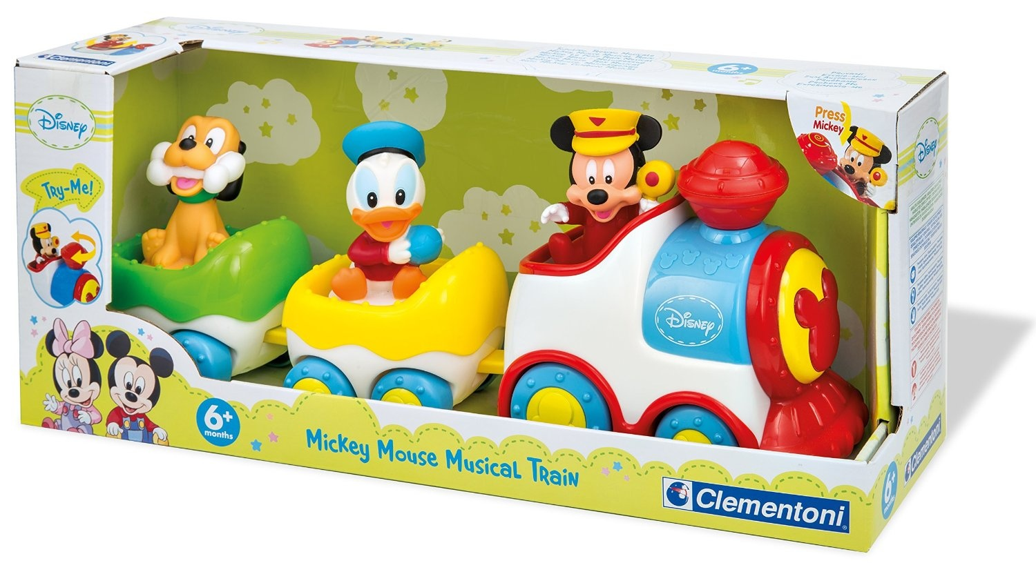 Clementoni 14361 Early Years Toy Mickey and Friends Musical Train by ...