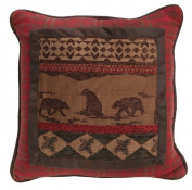 HiEnd Accents Cascade Lodge Bear Pillow