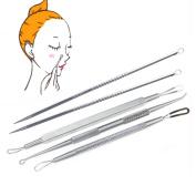 Hotrose® 5pcs Double-side Blackhead Pimple Blemish Acne Extractor Needle Skin Remover Tool