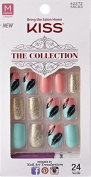 """**NEW 2015** Kiss """"The Collection Nails"""" (SSC03 v2) Medium Design Nails with Glue"""