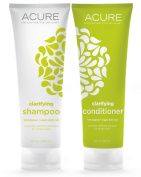 Acure Organics Lemongrass and Argan Stem Cell Volume Natural Shampoo and Conditioner Bundle