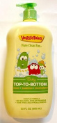 Veggie Tales Pure Clean Top-to-Bottom 950ml Pump -- Tear Free Body Wash + Shampoo + Moisturiser