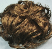 LACEY 7.6cm Pony Fastener Hair Scrunchie by Mona Lisa - 14 Golden Ash Brown