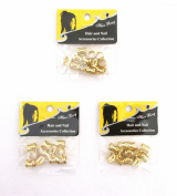 8 mm GOLD 36 pieces Braiding Hair Accessories Decoration Dread Lock Metal Cuffs Beads Dreadlocks