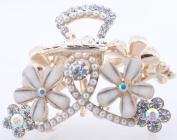 Fashion Lovely Daisy Flower Jewellery Crystal Hair Clips Hairpin - for hair clip hairpins Beauty Tool