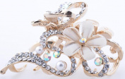 Lovely Vintage Jewellery Crystal Flower Hair Clips For Hair Clip Beauty