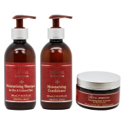 "Royal Moroccan Moisturising Shampoo & Conditioner 300ml & Nourishing Mask 250ml ""Set"""