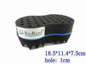 RioRand® Magic Twist hair brush sponge 1cm Hole diamete(Dimension