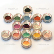 Beauty 15 Cold Metallic Colourful Glitter Shimmer Pearl Loose Eyeshadow Pigments Mineral Eye Shadow Dust Pot Powders Makeup Party Beauty Salon Cosmetic Kit #E * US SELLER *