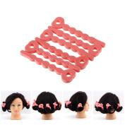 Pink Sponge Wavy Hair Curlers