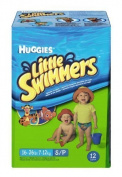 Huggies Little Swimmers Disposable Swim Nappies, Small, 12-Count