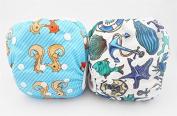 LilBit 2 pcs Pack Baby Infant Boys' Swim Nappy SD04
