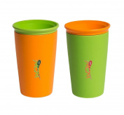 Wow Cup for Kids - NEW Innovative 360 Spill Free Drinking Cup - 2 Pack - 270ml
