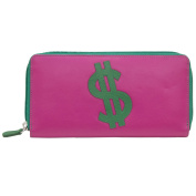 ili Leather Zip Around Wallet with RFB
